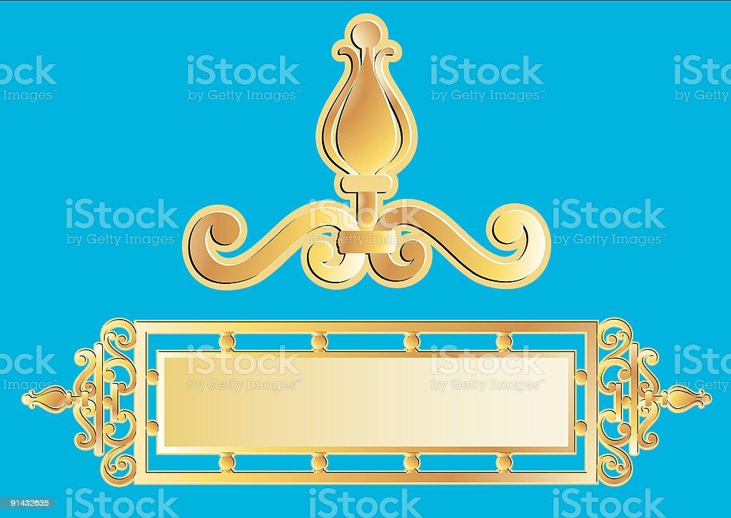 Gold vector panel royalty-free stock vector art