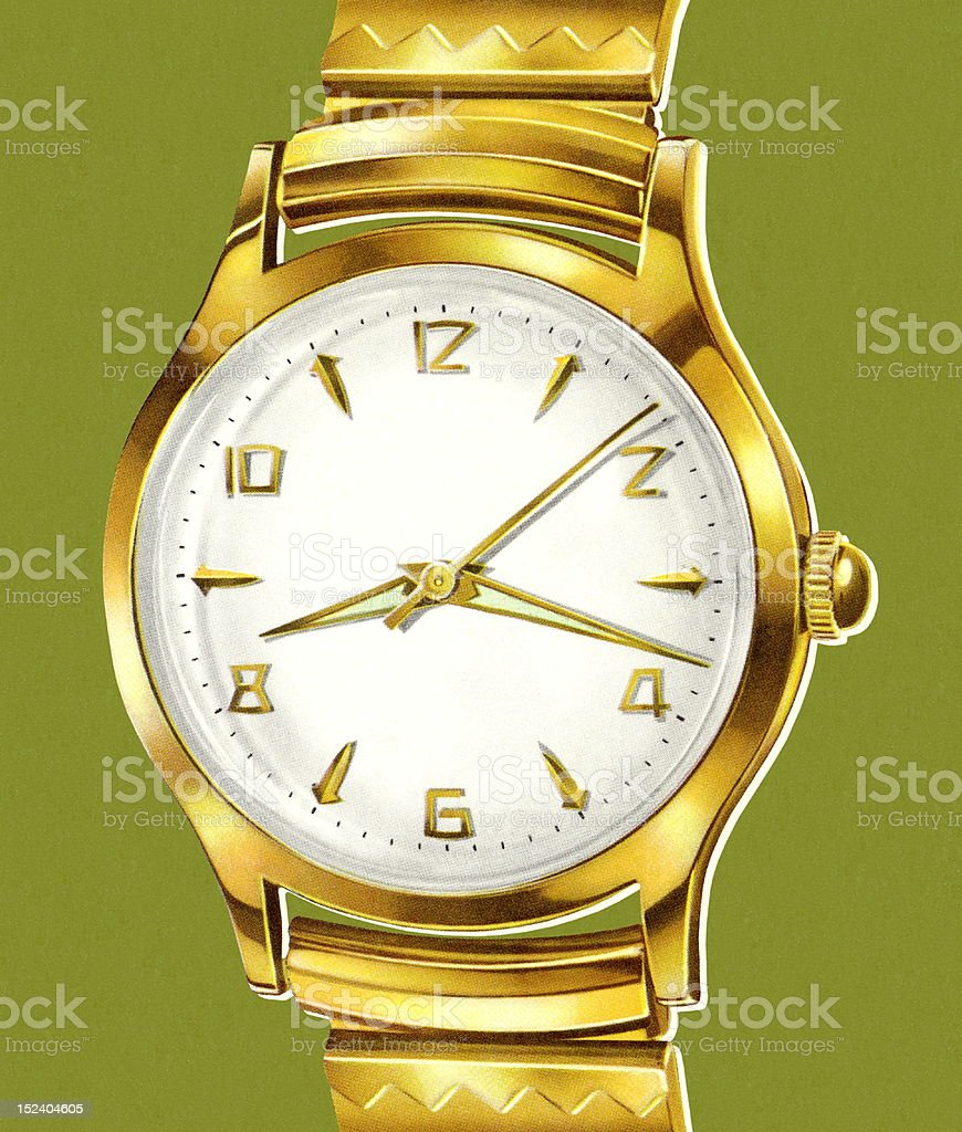 Gold Watch royalty-free stock vector art