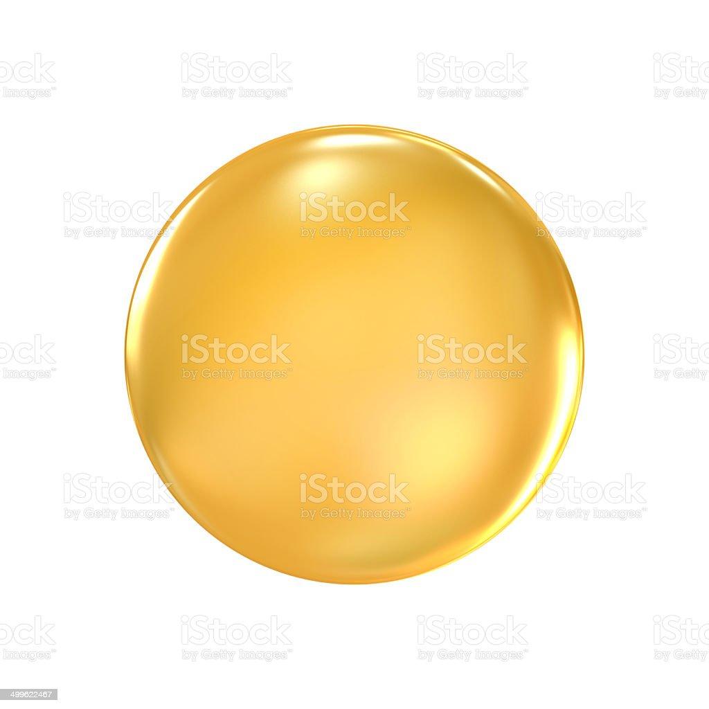 golden badge vector art illustration