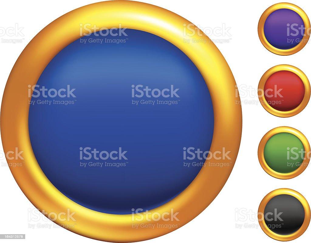 Golden buttons royalty-free stock vector art