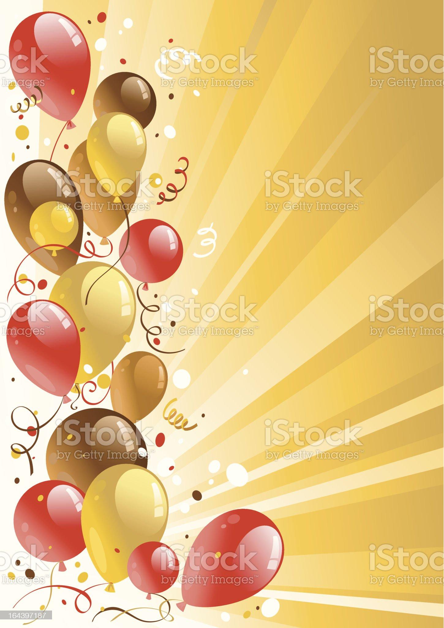 Golden celebration background royalty-free stock vector art