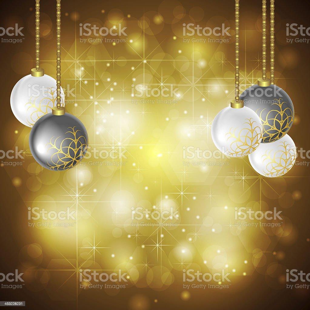 Golden Christmas background royalty-free stock vector art