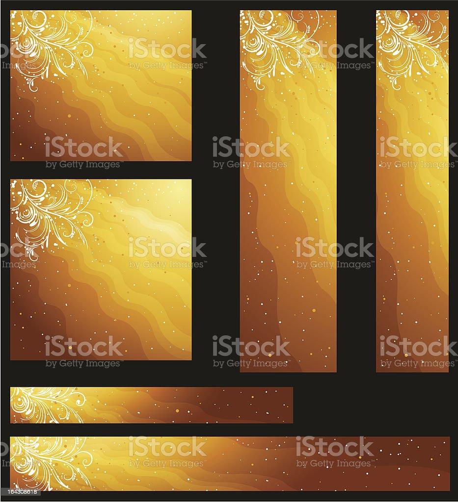 golden christmas banners royalty-free stock vector art