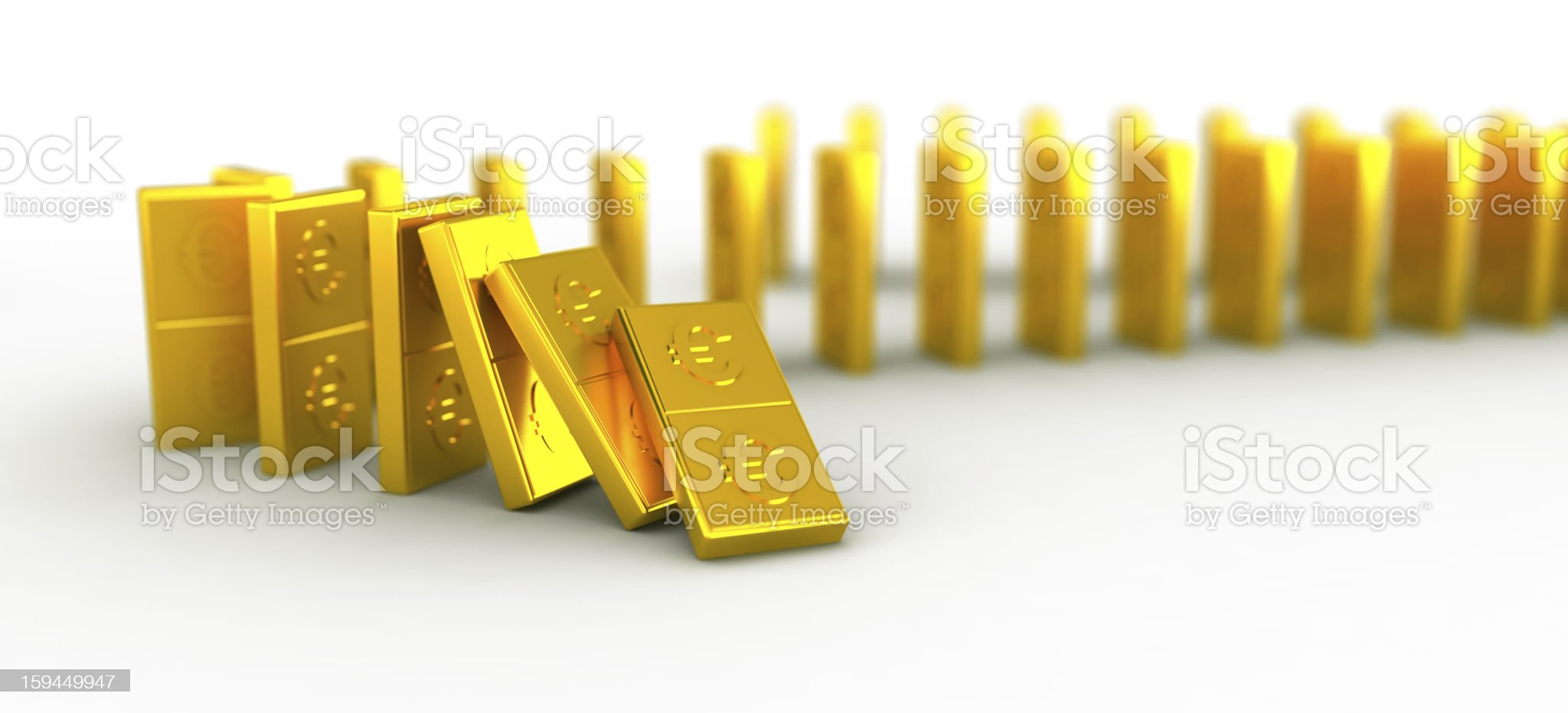Golden  euro domino royalty-free stock vector art