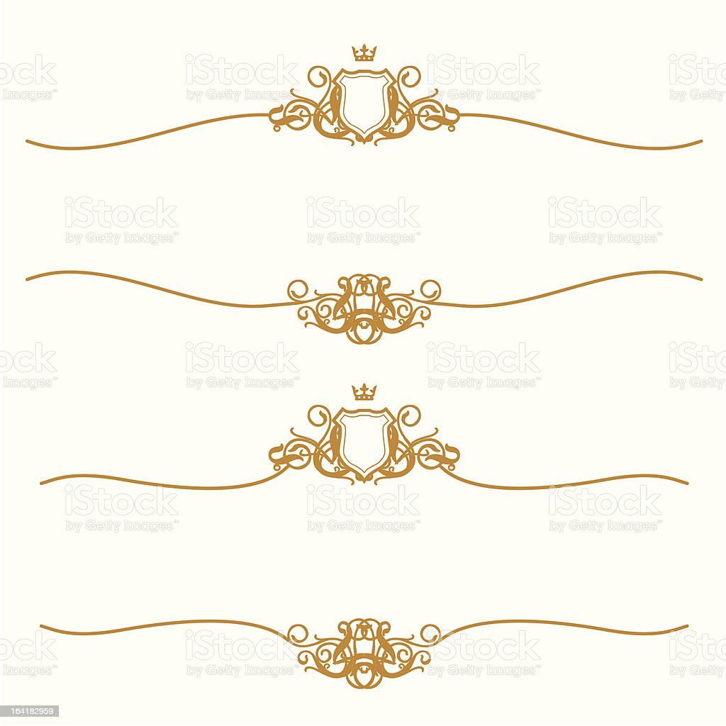 Golden Frame With Shield royalty-free stock vector art