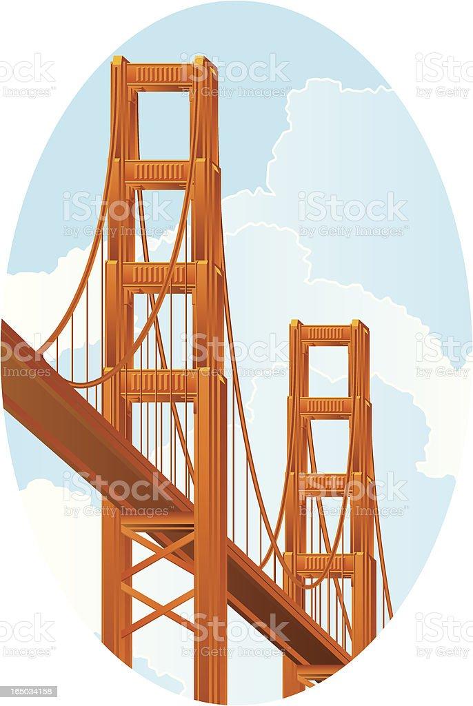 Golden Gate royalty-free stock vector art