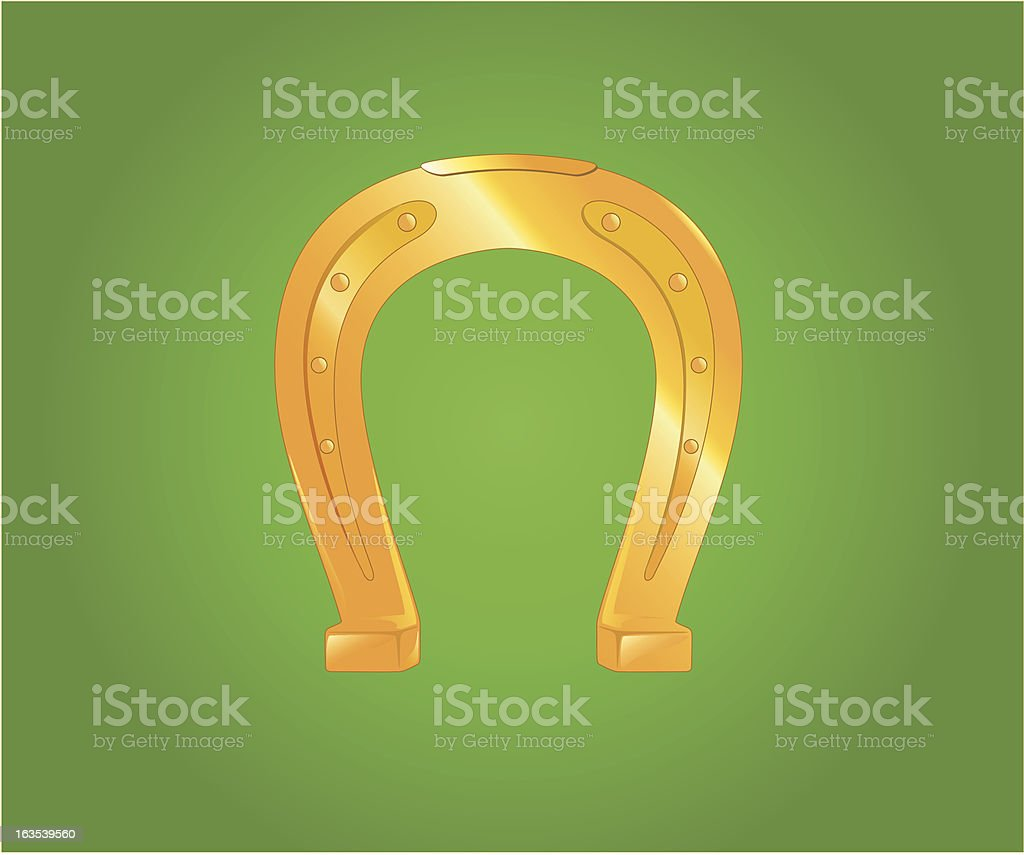 Golden horseshoe royalty-free stock vector art