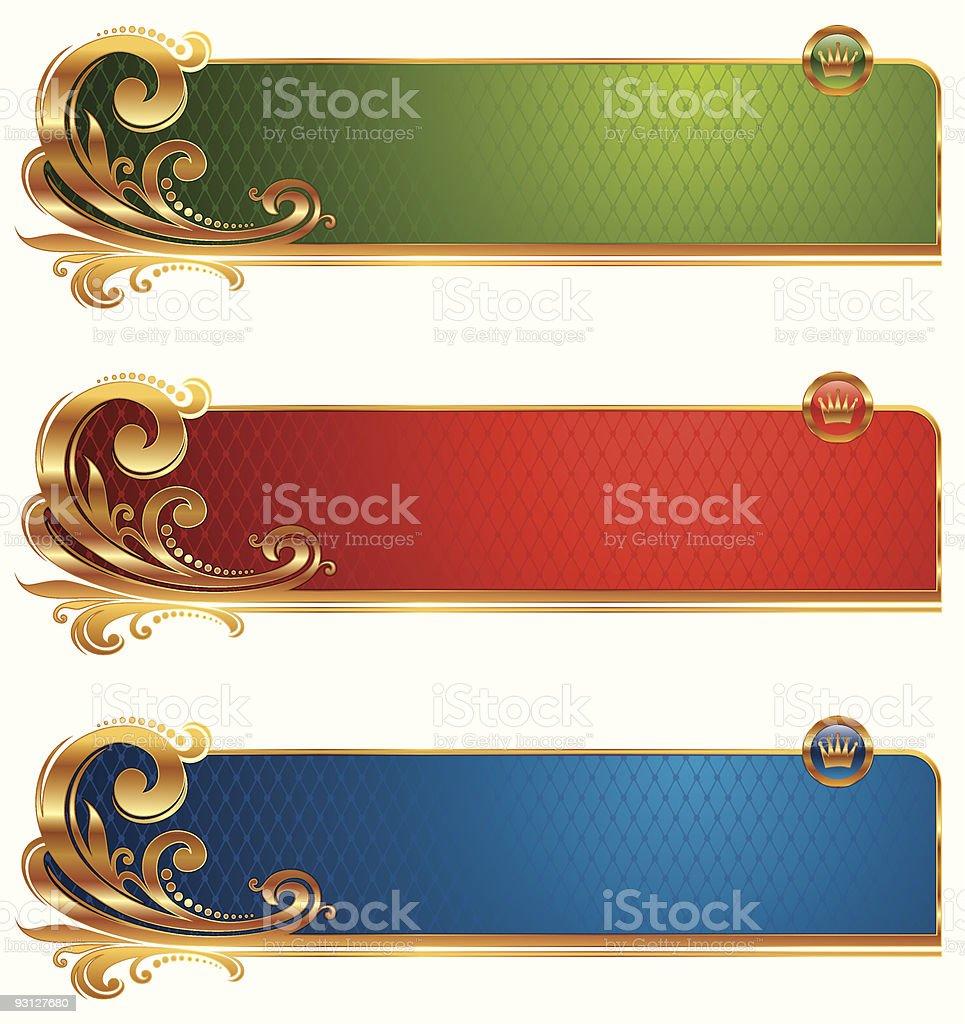 Golden luxury banners royalty-free stock vector art