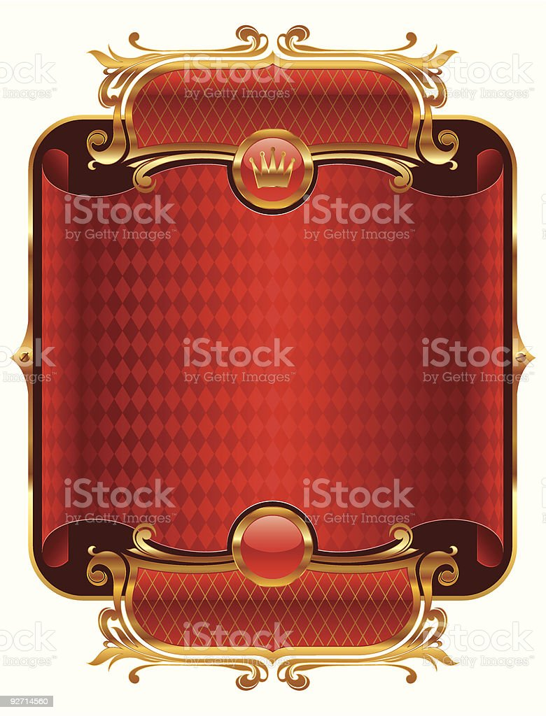 Golden luxury frame royalty-free stock vector art