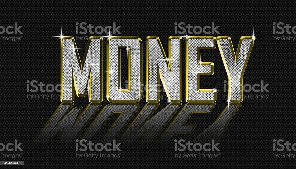 golden money letters vector art illustration
