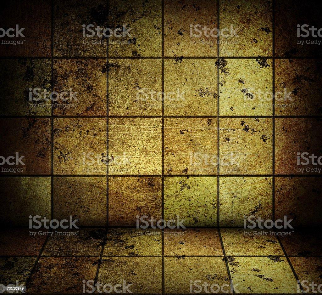 golden mosaic room royalty-free stock vector art