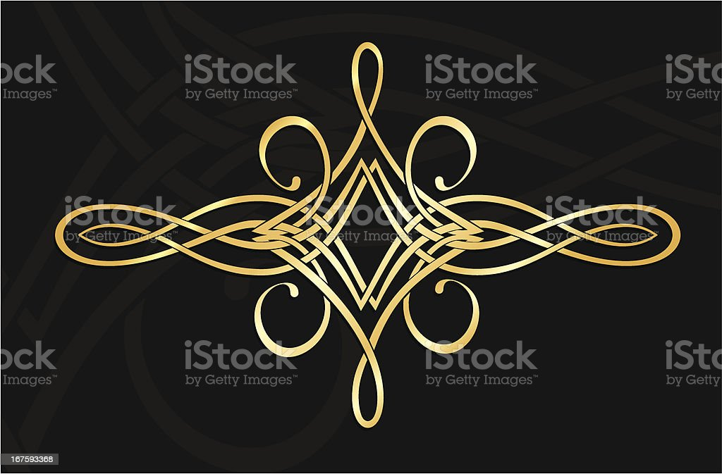 golden ornament royalty-free stock vector art