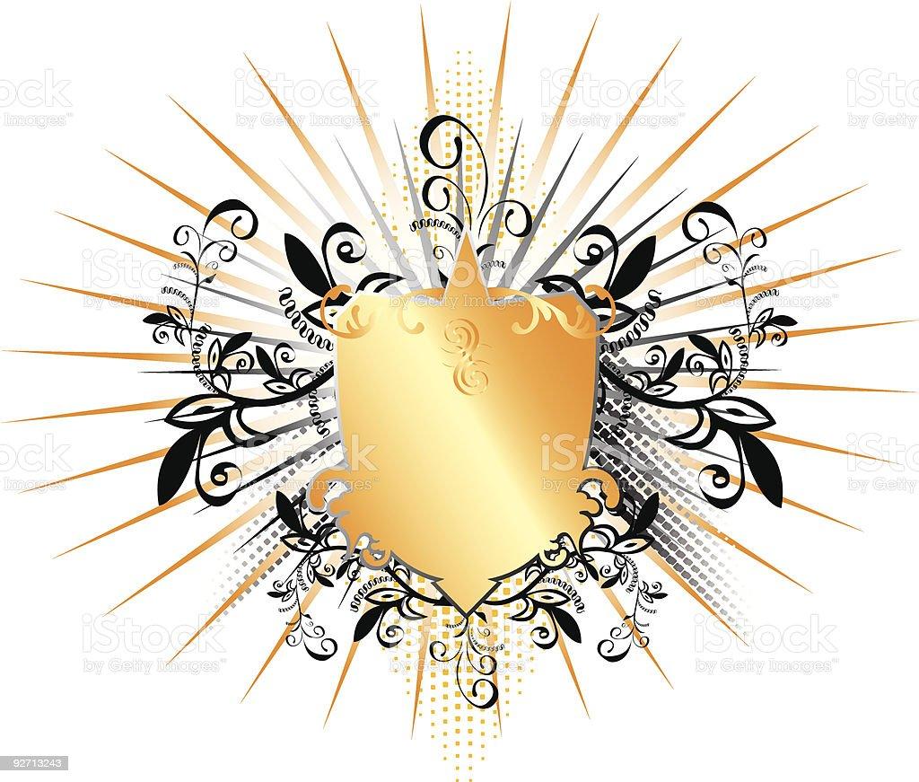 Golden Ornate Emblem royalty-free stock vector art