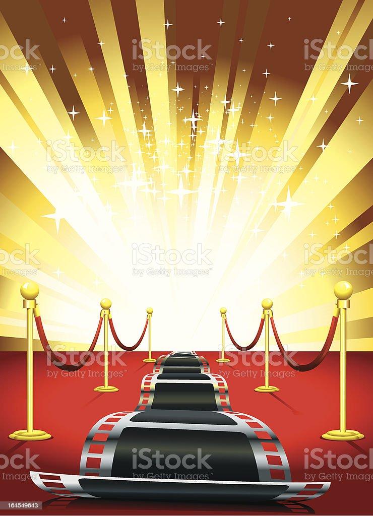 Golden Path vector art illustration