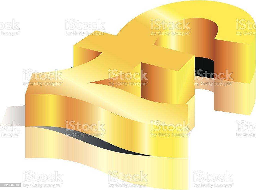 Golden Pound royalty-free stock vector art