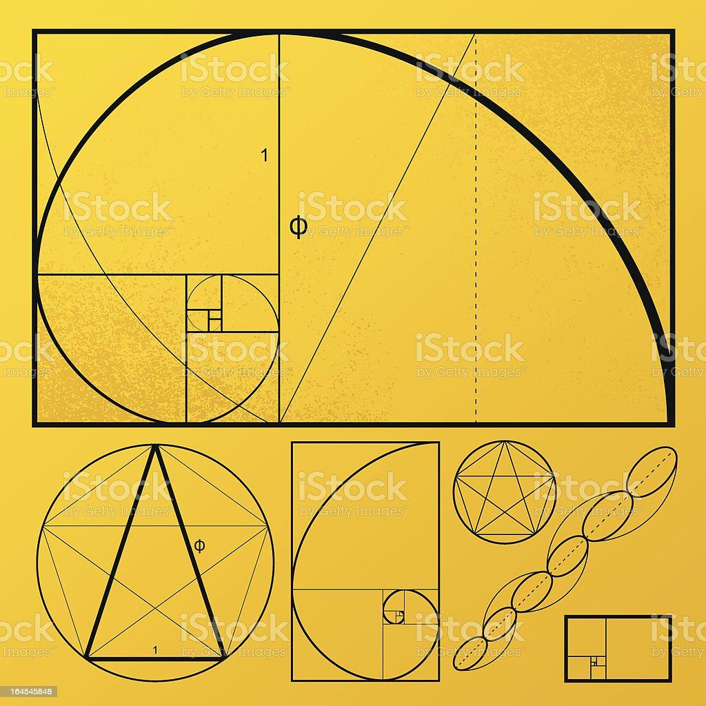 Golden Rectangle vector art illustration
