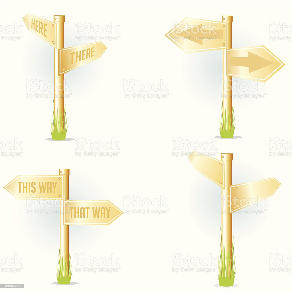 Golden Signage vector art illustration
