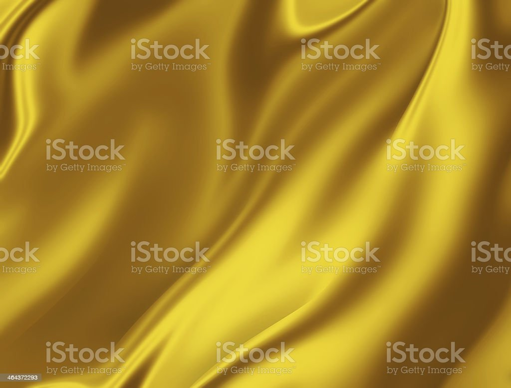 golden silk vector art illustration