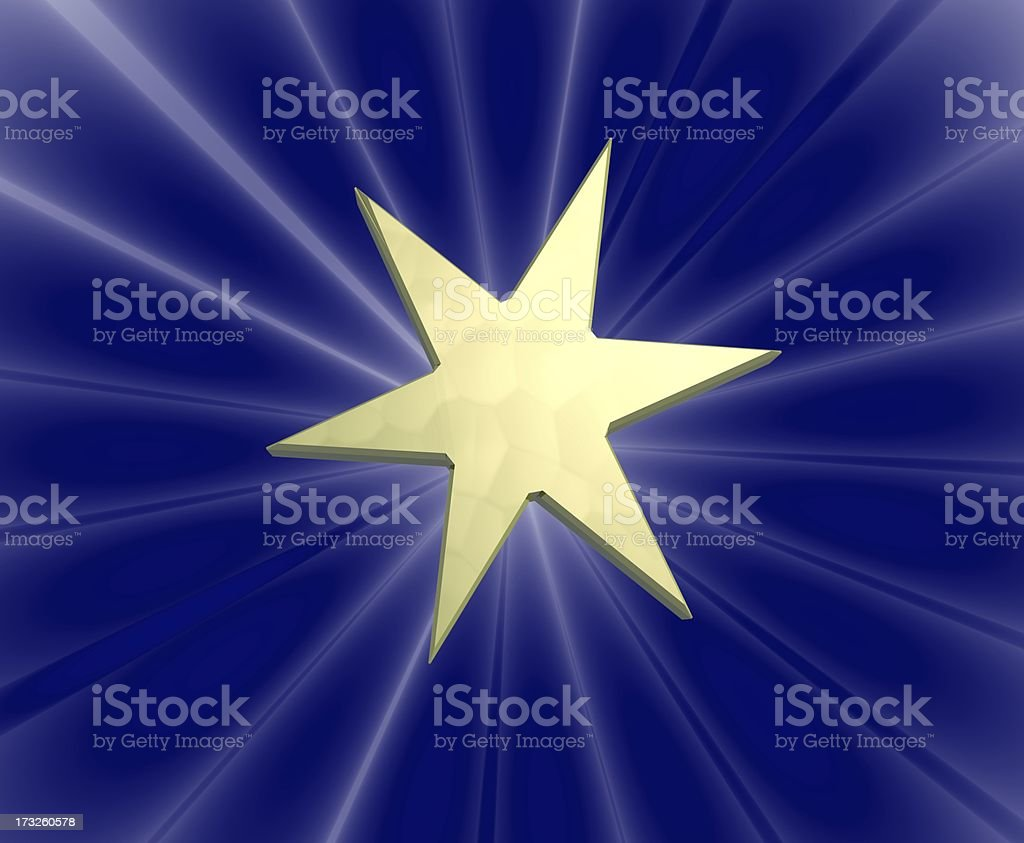 golden star vector art illustration