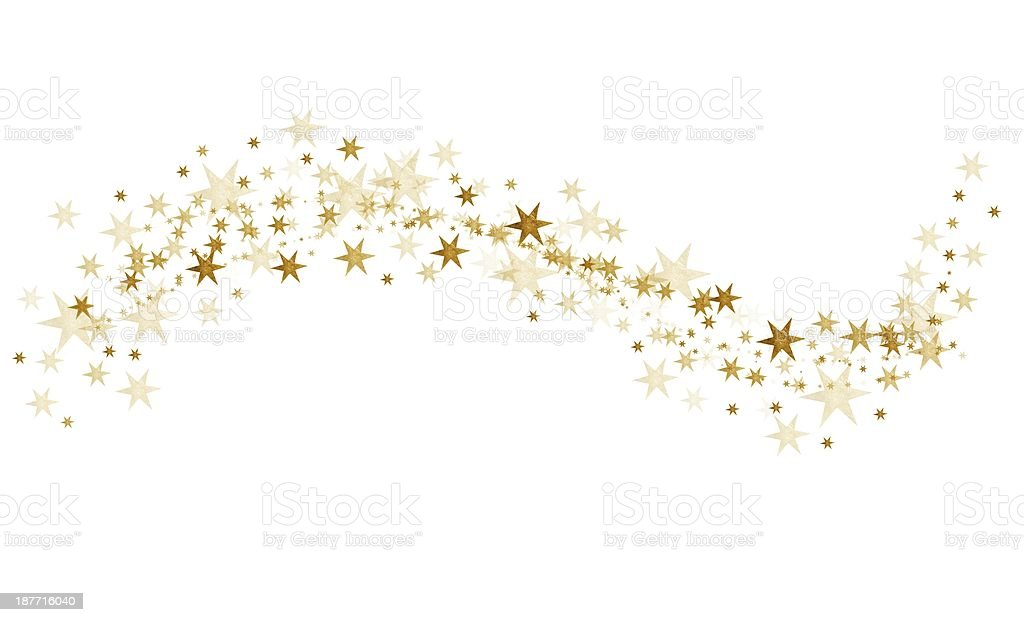 golden stars vector art illustration