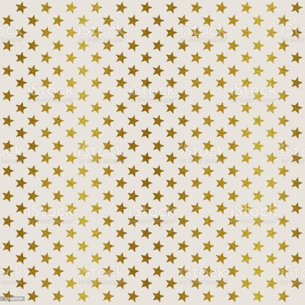 Golden stars on white background vector art illustration
