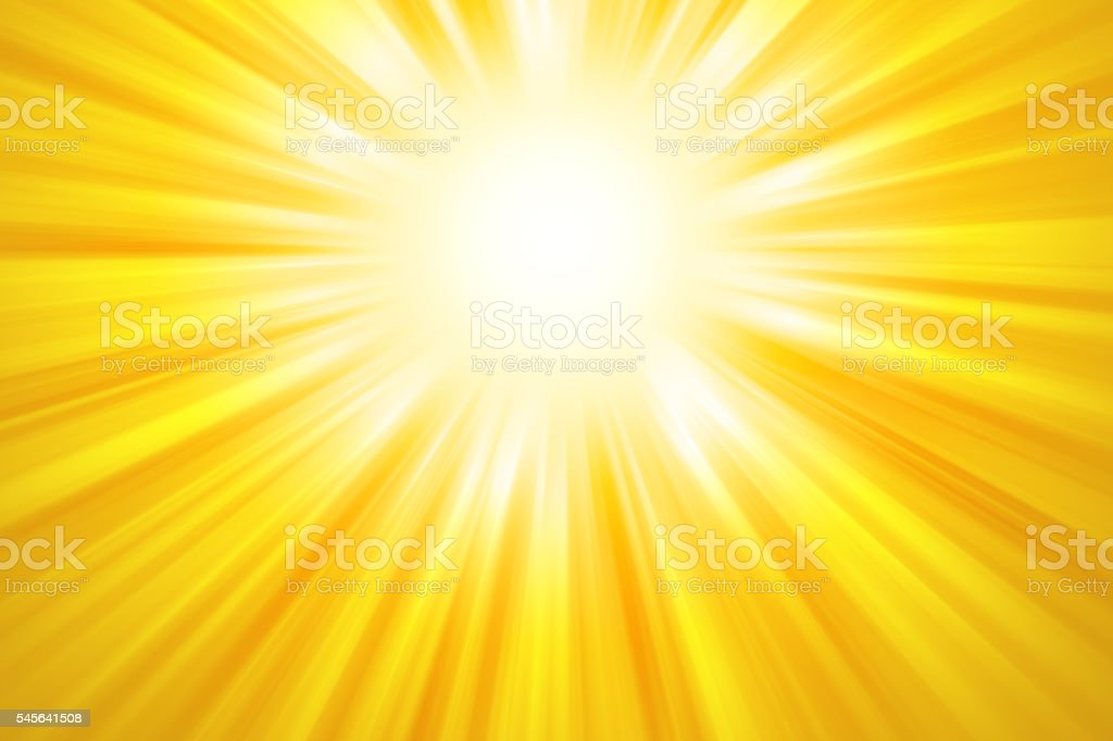 Golden sun rays background vector art illustration