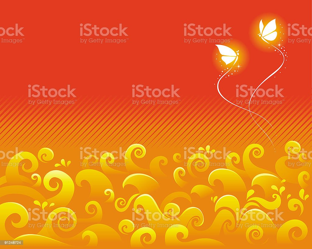 Golden Waves royalty-free stock vector art