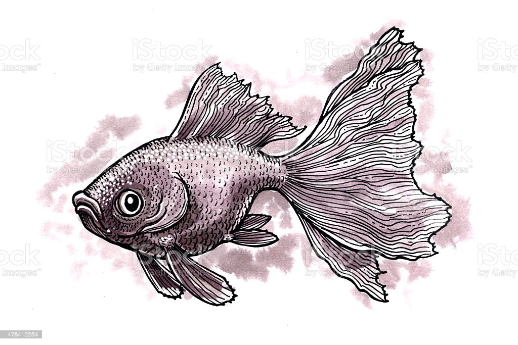 Goldfisch (Comic) Lizenzfreies vektor illustration