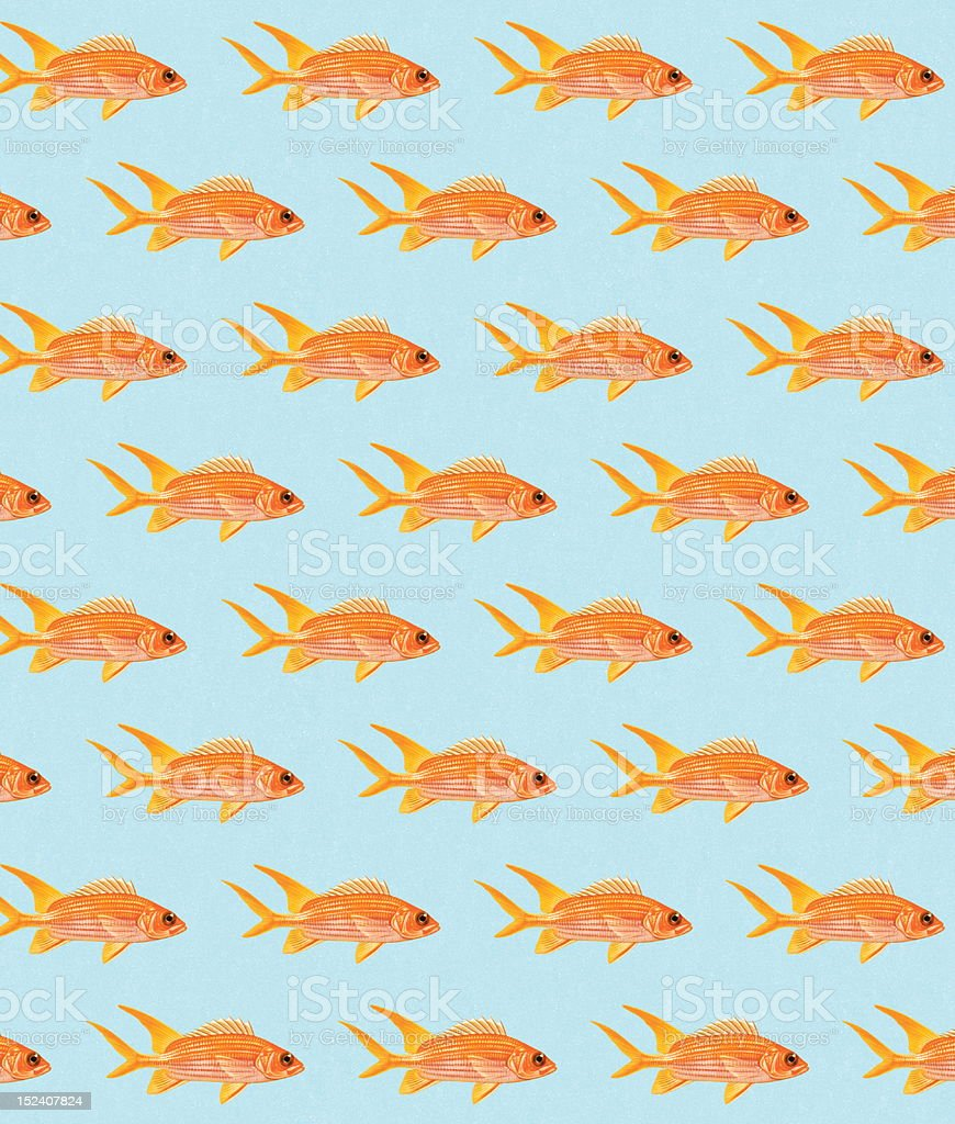 Goldfish Pattern royalty-free stock vector art