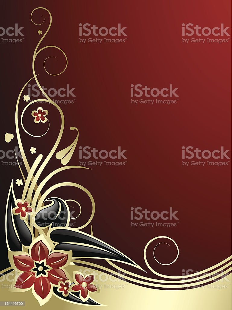 Gold-red classic background royalty-free stock vector art