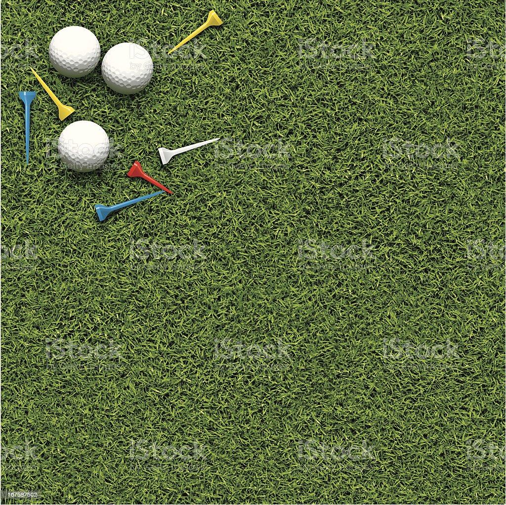 Golf background vector art illustration
