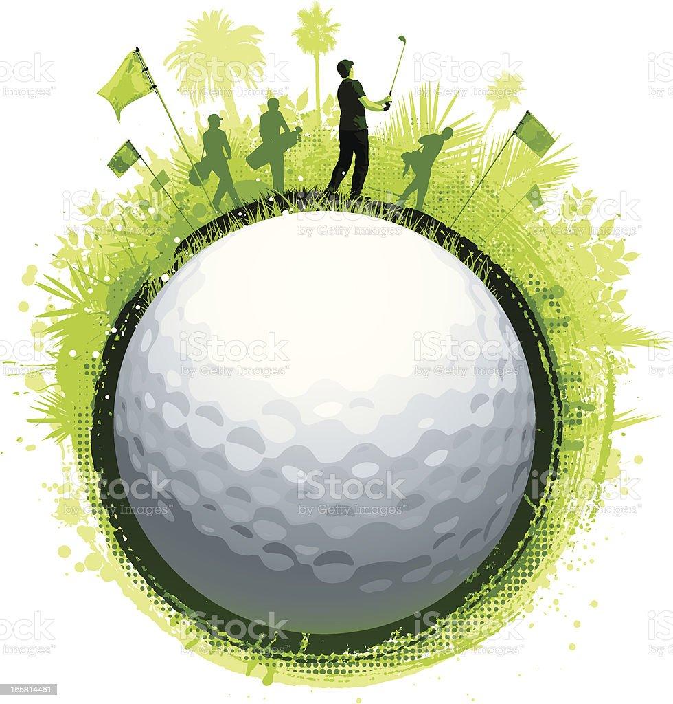 Golf ball splash background royalty-free stock vector art