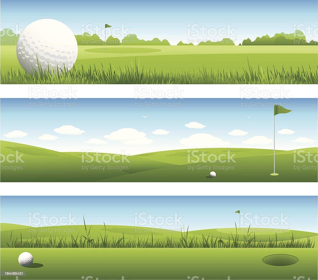 Golf banners vector art illustration