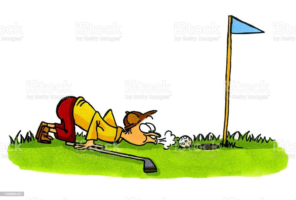 Golf Cartoons Number 4 Golfer Cheating Stock Illustration