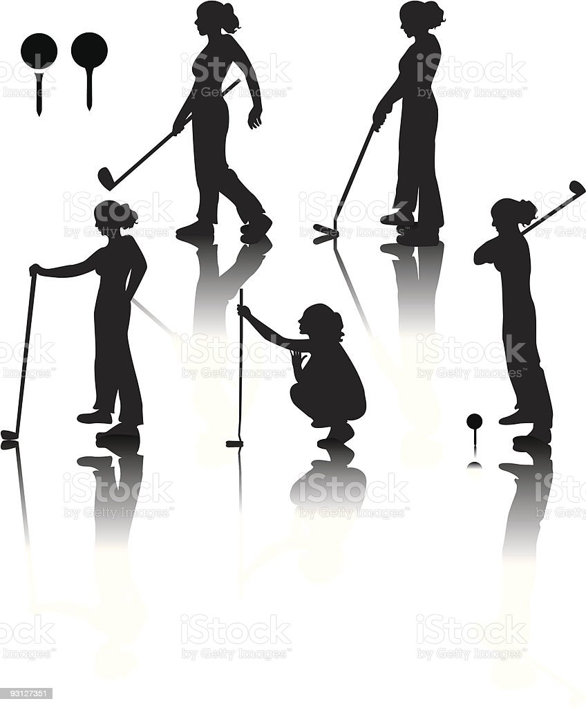 Golf! royalty-free stock vector art