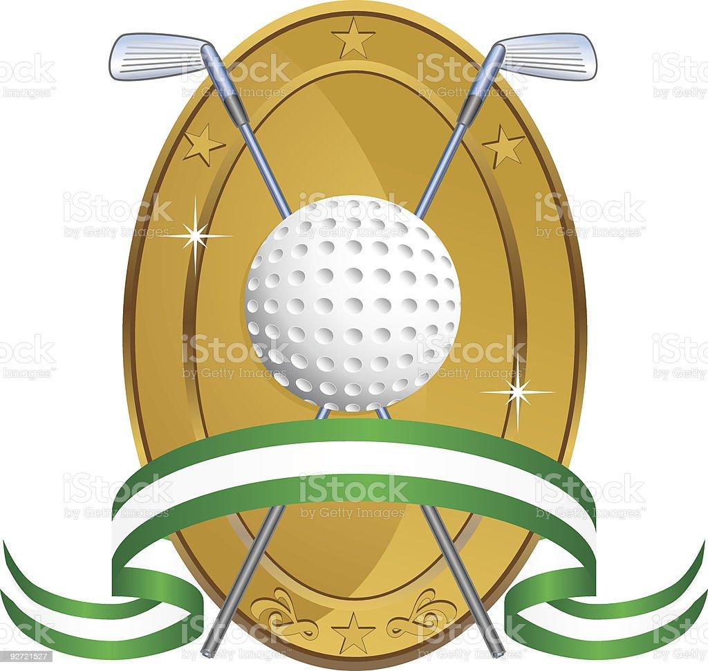Golf Oval Award royalty-free stock vector art