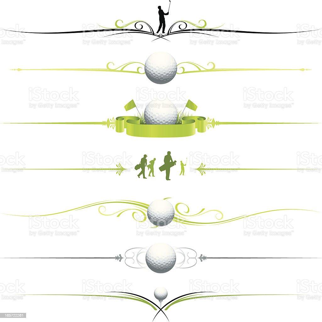 Golf page dividers vector art illustration