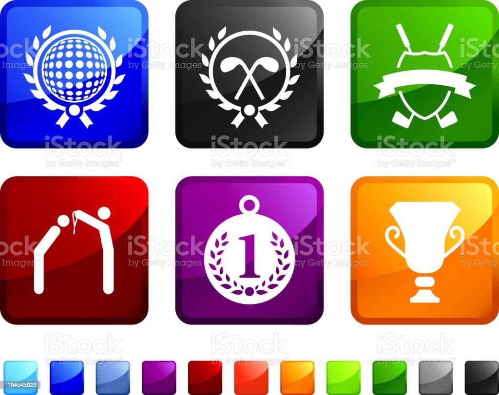 Golf royalty free vector icon set royalty-free stock vector art