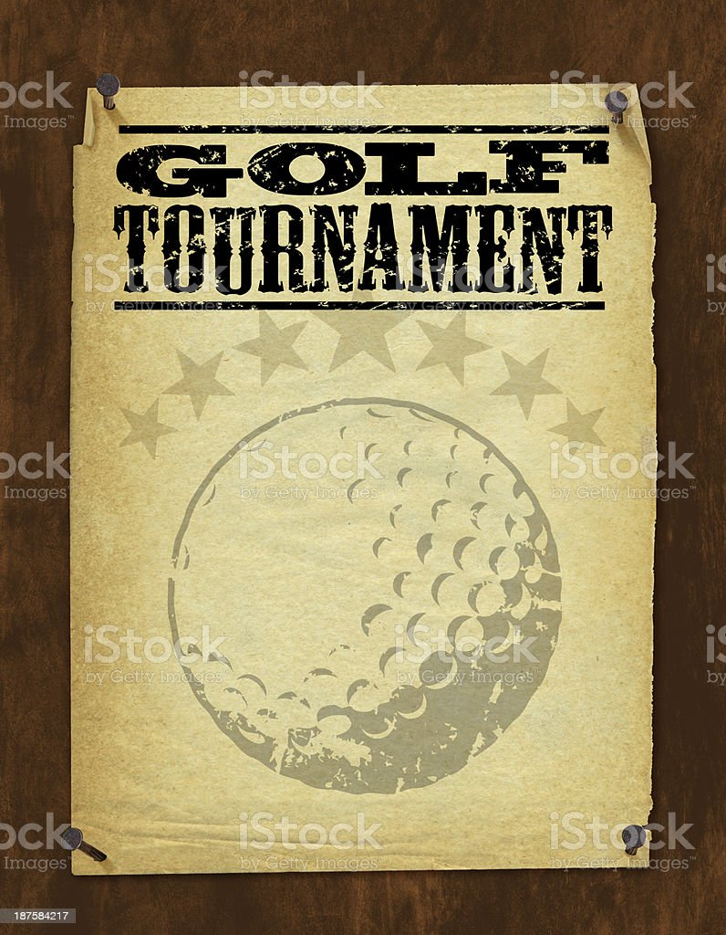Golf Tournament Poster - Retro Background royalty-free stock vector art