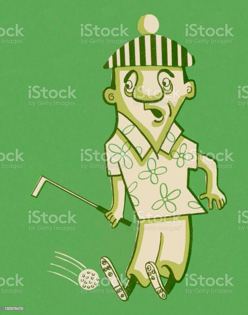 Golfer royalty-free stock vector art