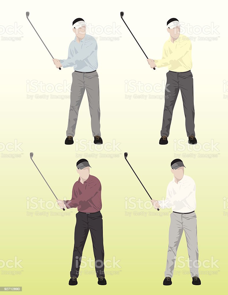 golfers royalty-free stock vector art