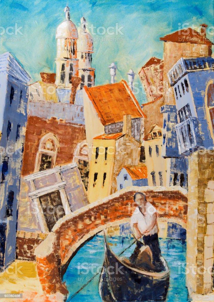 Gondola in Venice royalty-free stock vector art