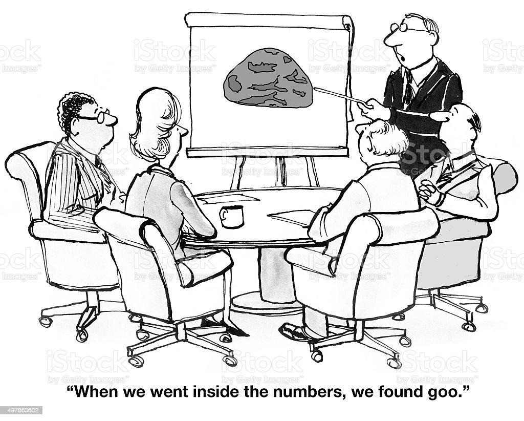 Goo Inside the Numbers vector art illustration