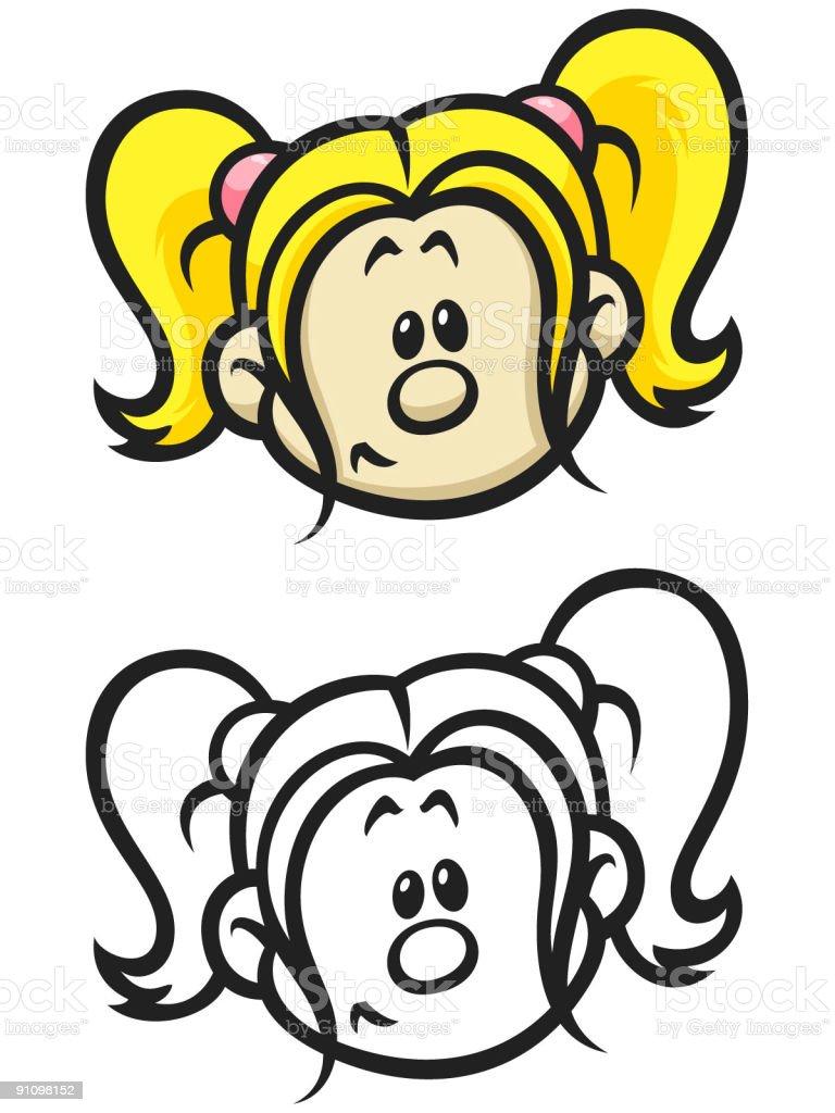 goodgirl vector art illustration