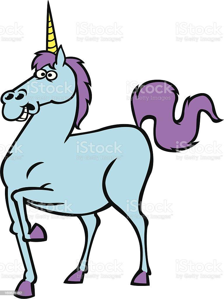 goofy unicorn royalty-free stock vector art
