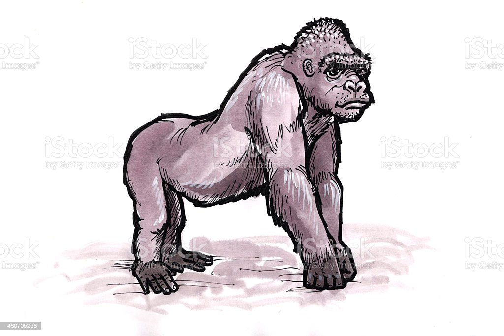 Gorilla (Comic Lizenzfreies vektor illustration