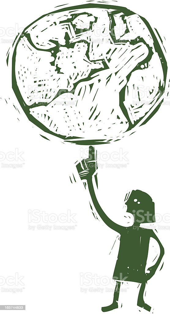 I got the whole world in my hand. royalty-free stock vector art