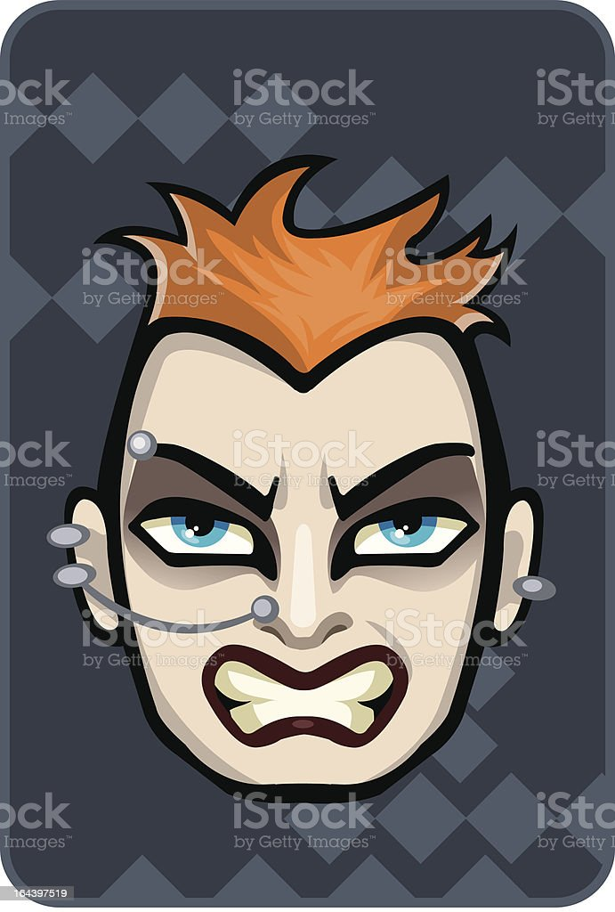 Goth Guy royalty-free stock vector art