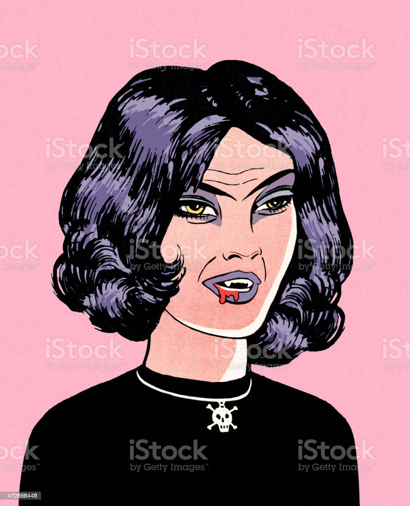 Goth Teen vector art illustration