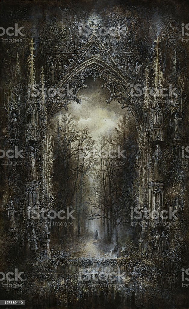 Gothic Fantasy vector art illustration